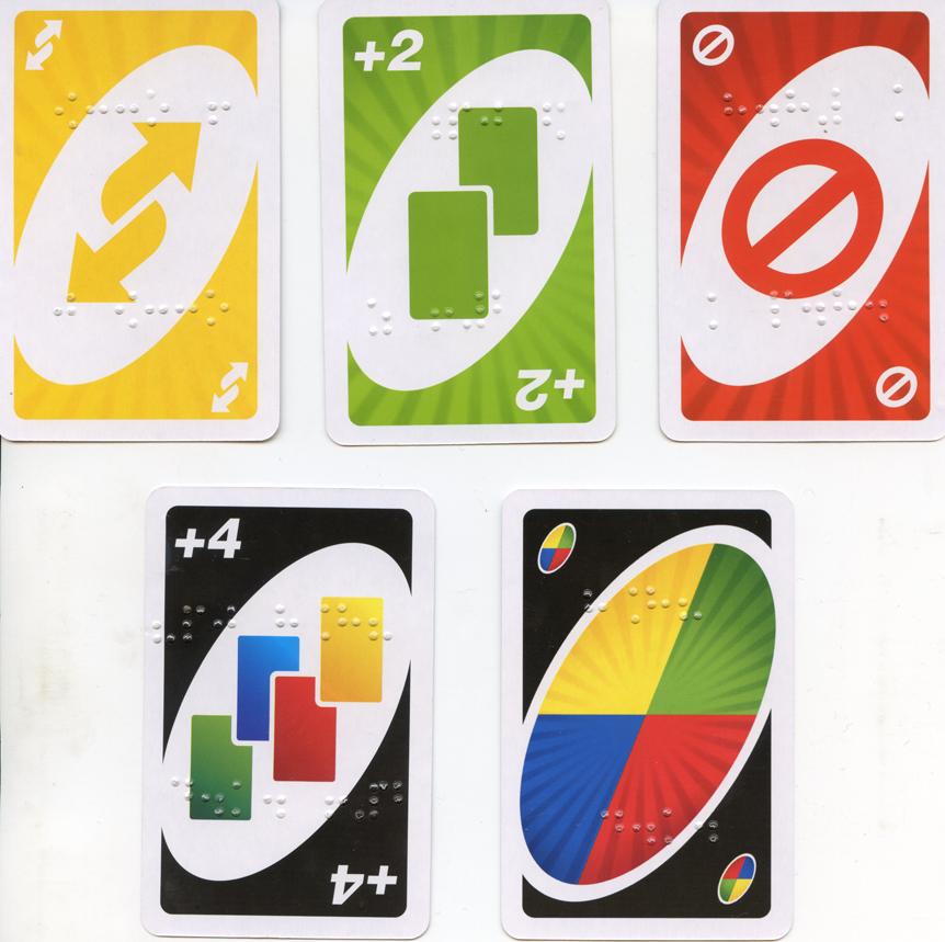 маркировка карт для Брайлю (пример)
